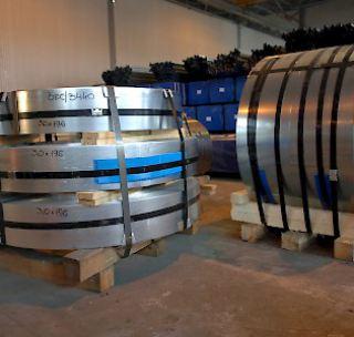 Лента стальная чёрная 0,5х20 мм