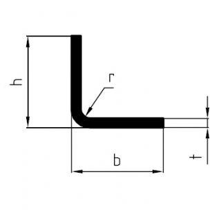 Профіль L-образний 100 х 100 х 6 х 6000 мм